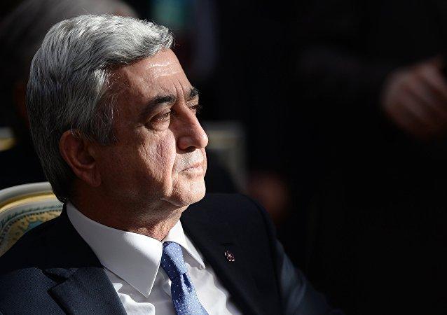 Serzh Sargsyan, presidente da Armênia