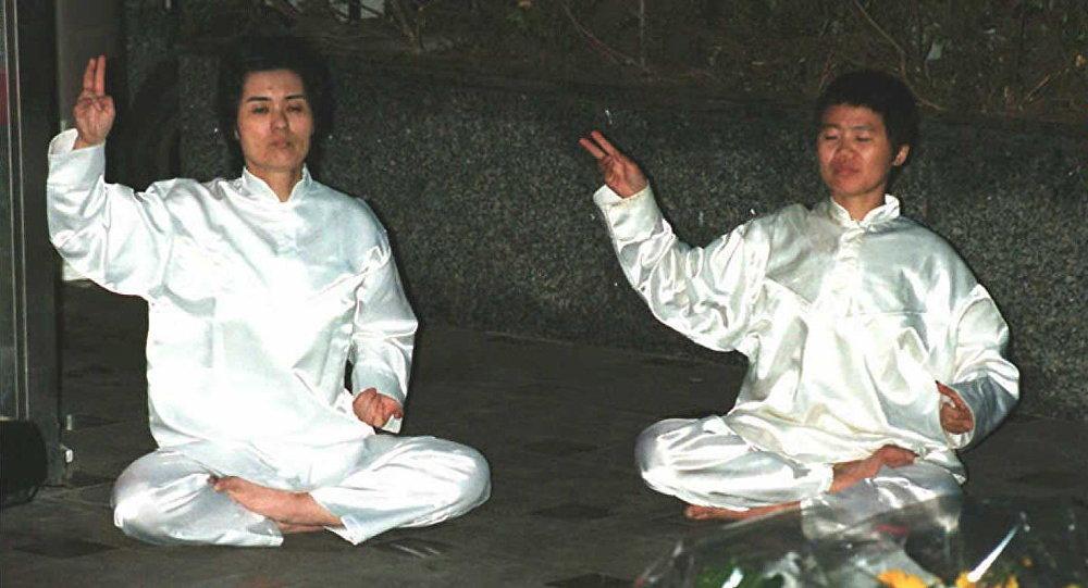 Membros da seita AUM Shinrikyo, Japão