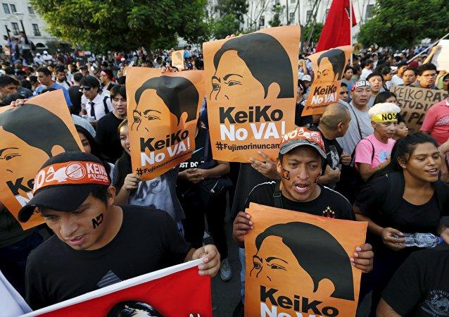 Marcha contra Keiko Fujimori