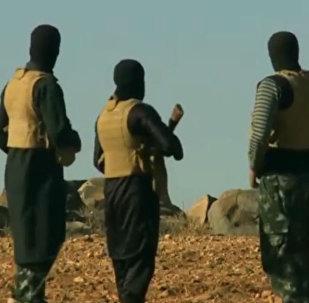 Militantes do grupo terrorista Daesh no Afeganistão (arquivo)