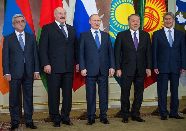 Os presidentes dos países membros da UEE