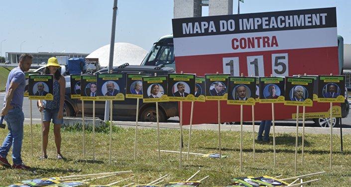 Placar do impeachment em Brasília
