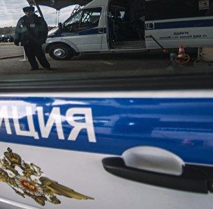 Um carro policial russo (foto de arquivo)