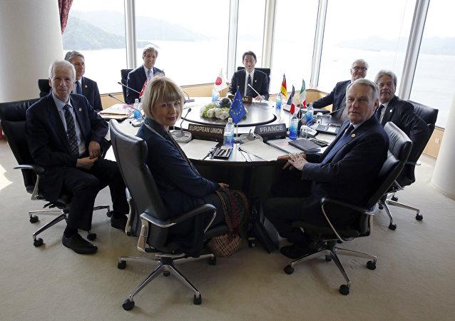 Reunião de chanceleres do G7 em Hiroshima, abril 2016