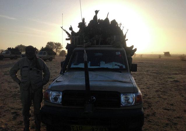 Soldados do exército de Chade