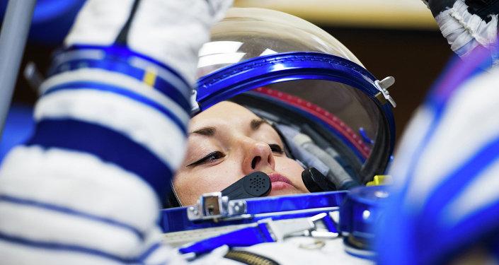Elena Serova, primeira cosmonauta russa em quase duas décadas