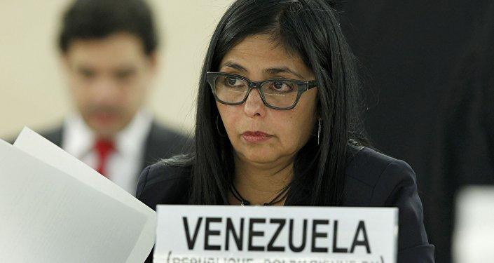 Delcy Rodriguez, chanceler da Venezuela.