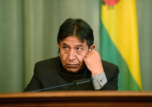 David Choquehuanca, chanceler da Bolívia
