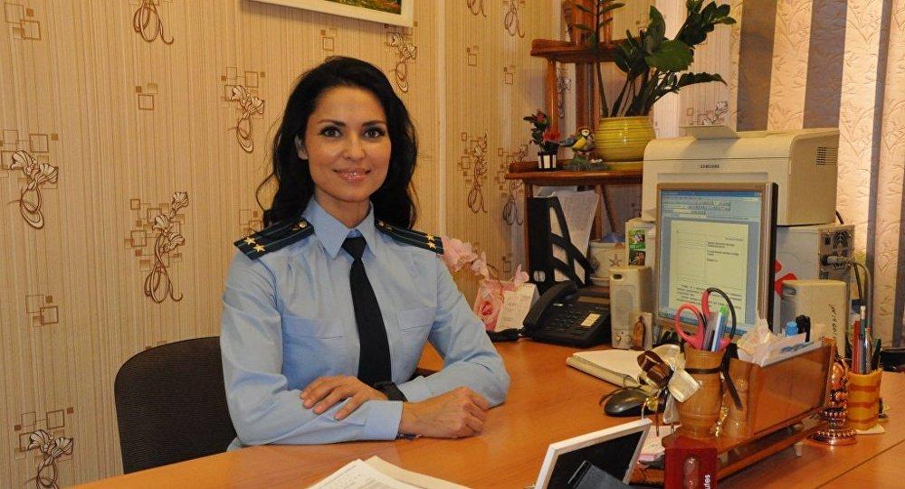 Zhanna Sindyankina, a vice-procuradora da cidade de Kopeisk (Rússia)