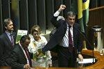 Ministro da Advocacia-Geral da União, José Eduardo Cardozo, apresenta a defesa da Presidenta Dilma Rousseff na Câmara