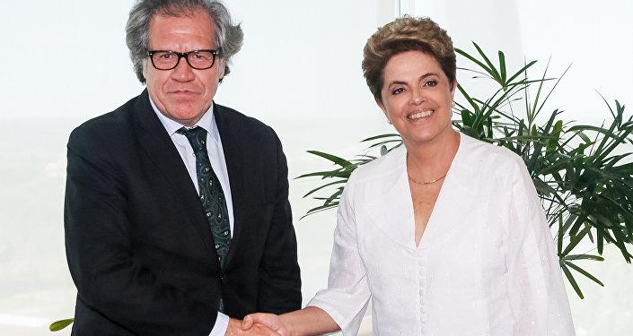 Presidenta Dilma Rousseff recebe Luis Almagro, Secretário-Geral da Organização dos Estados Americanos. (Brasília - DF, 14/04/2016)