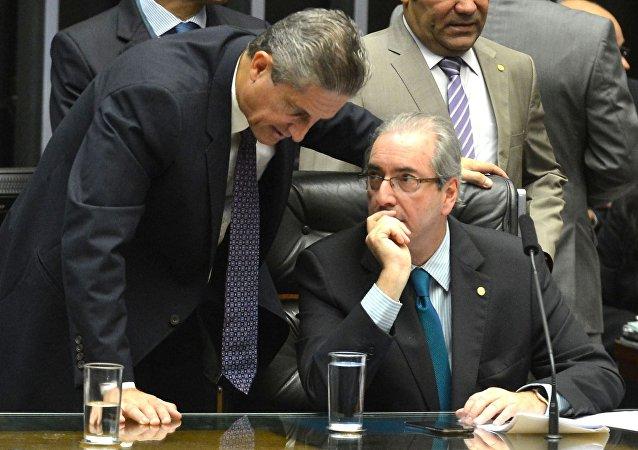 Eduardo Cunha em debate sobre o impeachment na Câmara dos Deputados