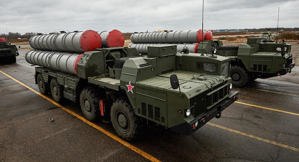S-300 durante um ensaio de treinamento