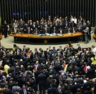 Sessão de votação do impeachment na Câmara dos Deputados