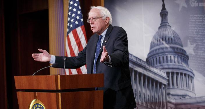 Bernie Sanders, pré-candidato democrata à presidência dos EUA
