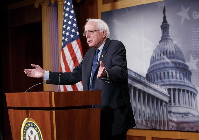Senador Bernie Sanders, pré-candidato democrata à presidência dos EUA nas eleições de 2016