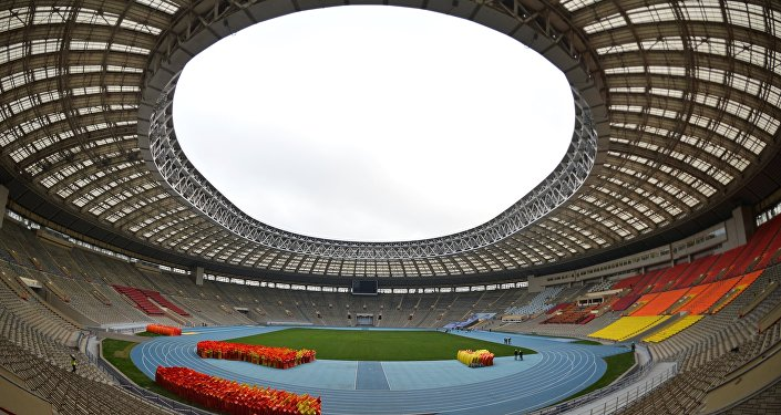 A renovação do estádio Luzhniki para a Copa do Mundo de 2018