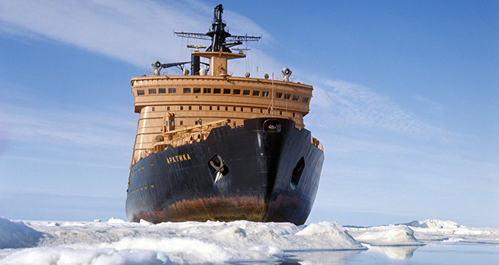 Quebra-gelo nuclear russo Ártico