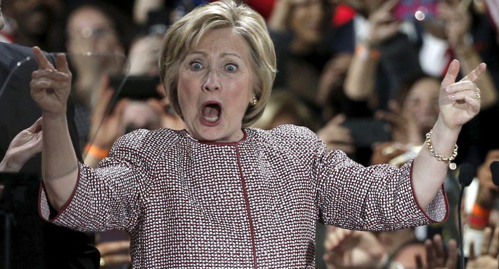 Candidata democrata à presidência dos EUA, Hillary Clinton