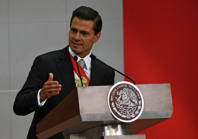 O presidente do México, Enrique Peña Nieto