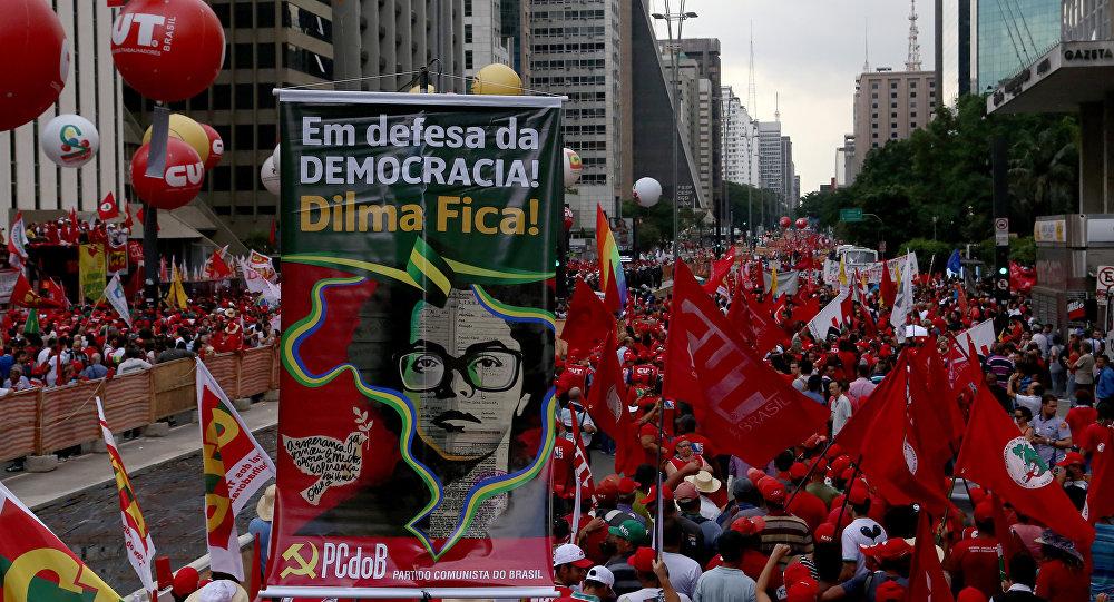 Manifestação na av. Paulista