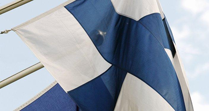 Bandeira da UE e Finlândia