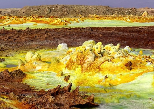 O Deserto de Danakli na Etiópia