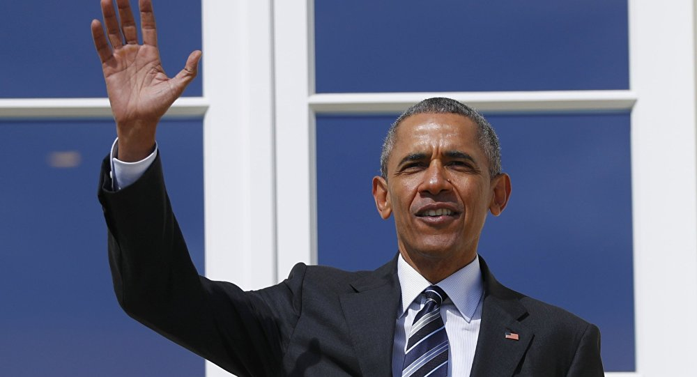 Presidente norte-americano Barack Obama em Hanôver, Alemanha, 24 de abril de 2016