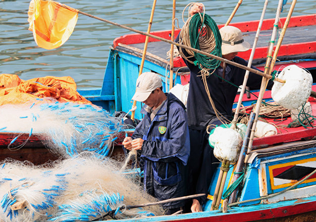 Os pescadores chineses