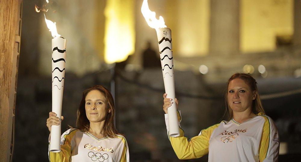 Revezamento da tocha olímpica