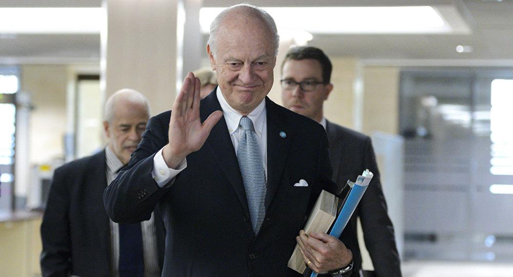 Staffan de Mistura, enviado especial da ONU para Síria