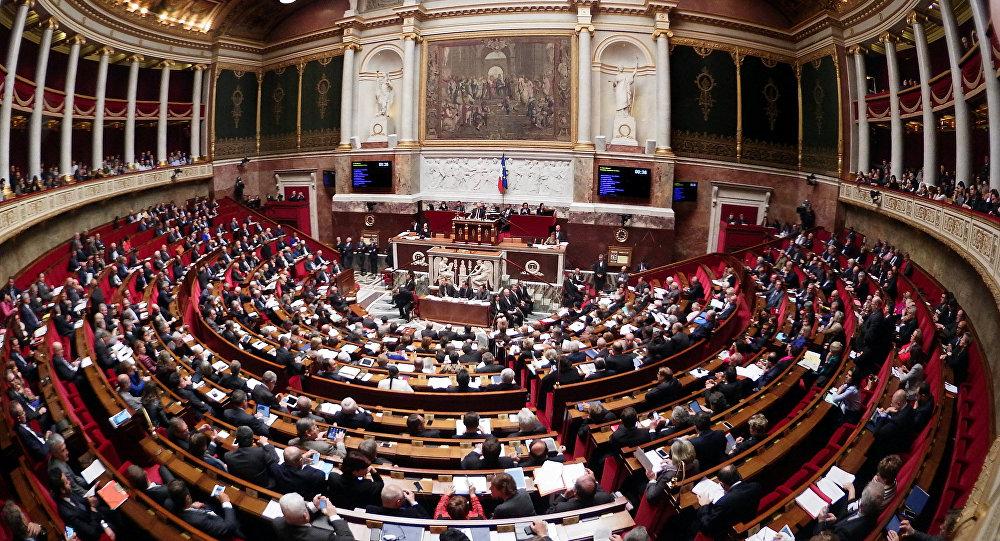A vista geral para a Assembleia Nacional da França