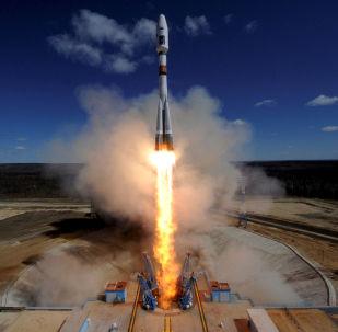 Lançamento de um foguete de cosmódromo Vostochny (foto de arquivo)
