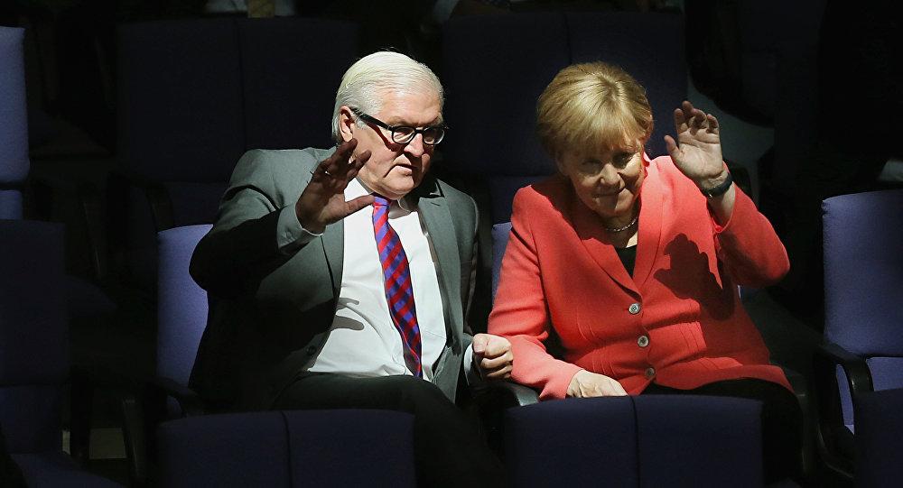 Angela Merkel, chanceler da Alemanha, e Frank-Walter Steinmeier, ministro de Relações Exteriores do país