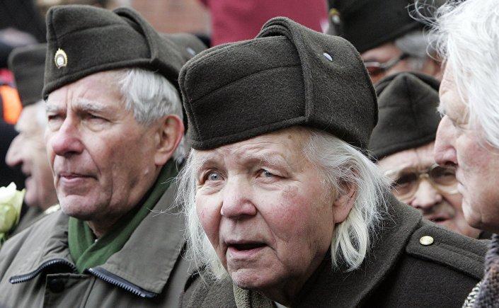 Marcha da legião letã da SS em 2014