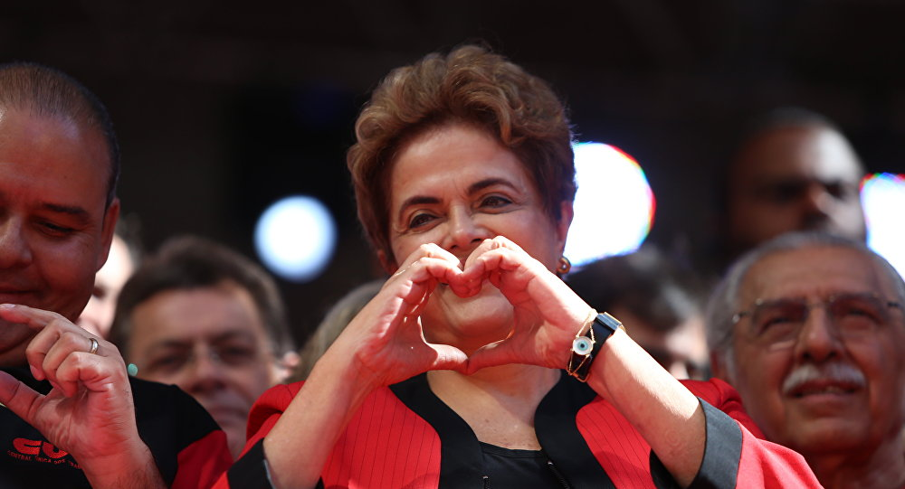 Presidenta Dilma Rousseff participa de evento do Dia do Trabalhador, no Vale do Anhangabaú