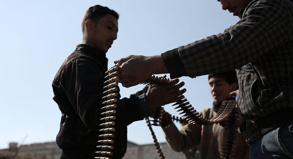 Rebeldes do grupo Jaysh al-Sham na Síria