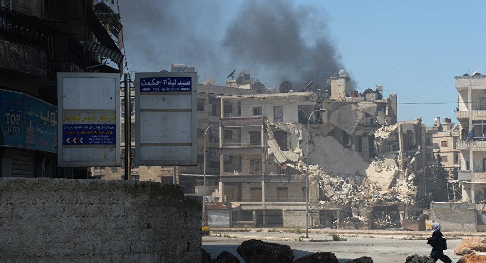 Uma área da cidade de Aleppo, na Síria, atacada por militantes, em foto de arquivo