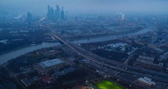 Uma vista ao Moscou de cima