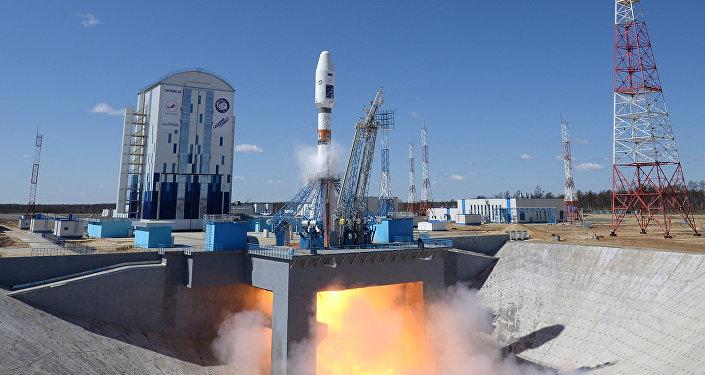 O foguete Soyuz 2.1a no cosmódromo Vostochny (foto de arquivo)