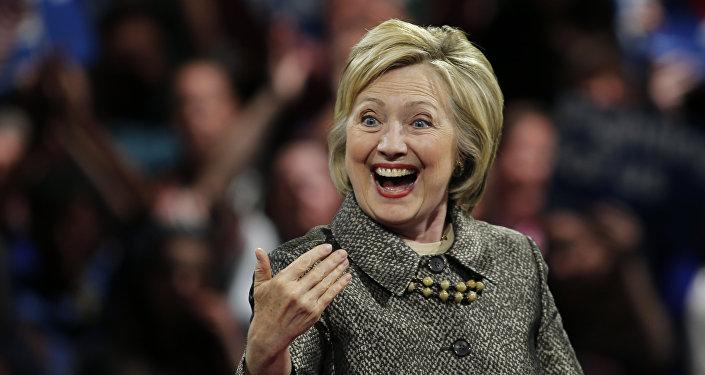 A presidenciável do Partido Democrata na corrida eleitoral dos EUA, Hillary Clinton