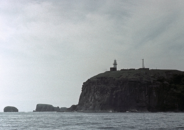 Ilhas Curilhas. Ilha Shikotan.