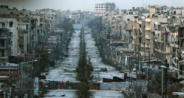 Distrito de Saif al-Dawla, em Aleppo, Síria