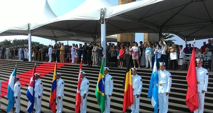 Cerimônia de entrega da Medalha da Vitória no Rio de Janeiro