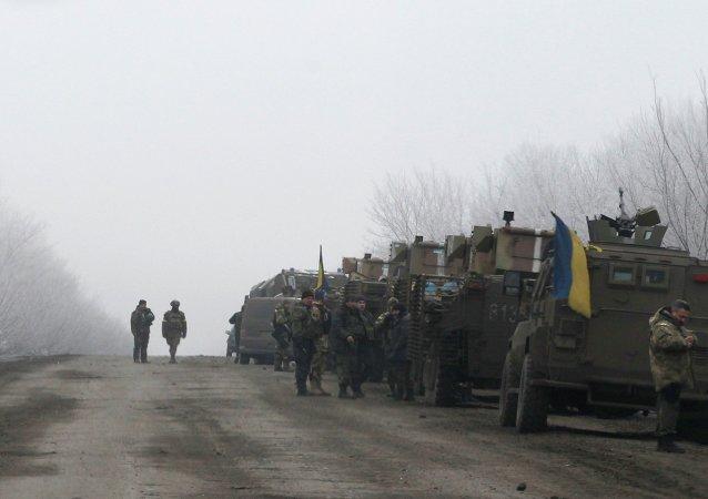 Comboio militar ucraniano