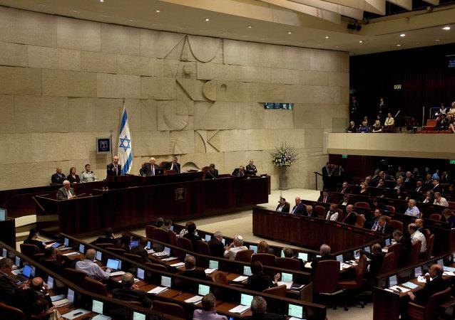 Sessão no Knesset, parlamento de Israel (arquivo)