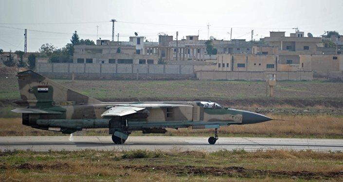A base aérea na Síria