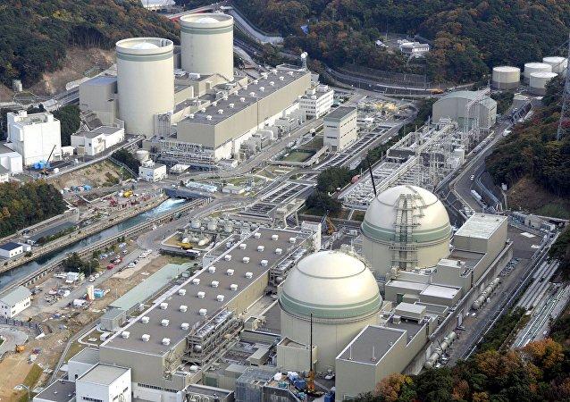 Central nuclear Takahama, Japão, em 27 de novembro, 2014