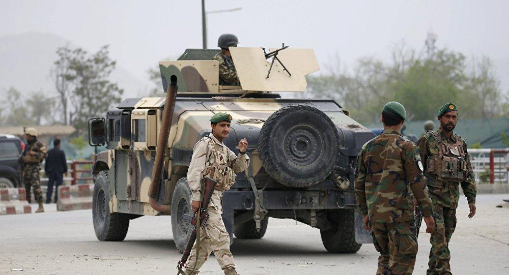 Soldados do Exército do Afeganistão em Cabul (arquivo)