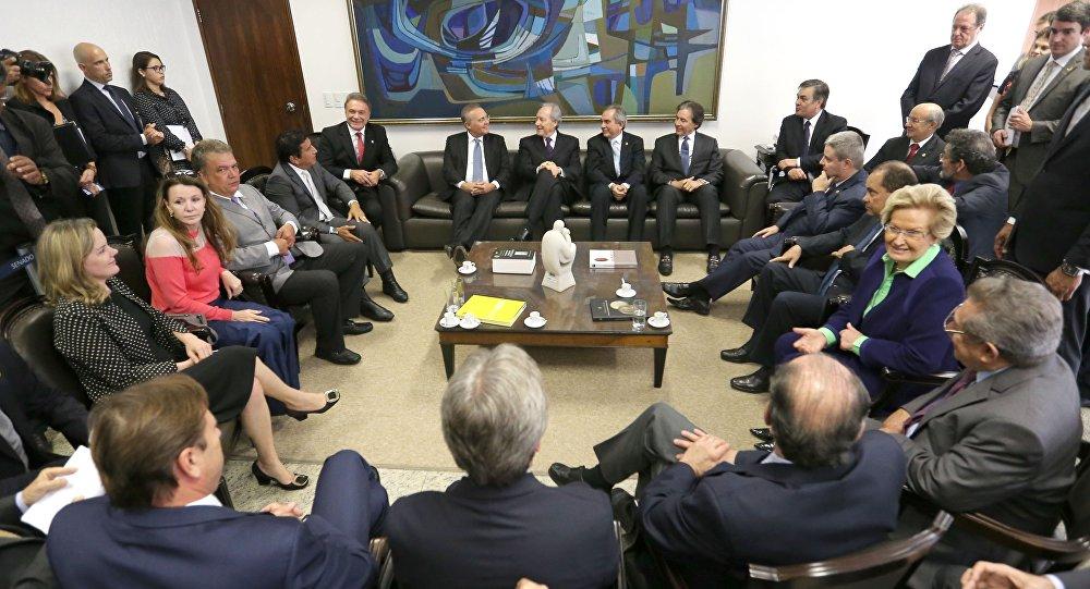 Comissão do Impeachmentdo Senado recebe o Presidente do STF, Ricardo Lewandowski